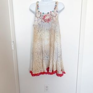 NWT Antica Sartoria Lace Boho Dress/Tunic/Coverup